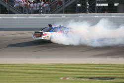 Matt Kenseth wrecks after the checkered flag