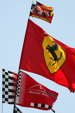Fan flags for Michael Schumacher
