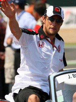 Drivers parade: Jenson Button