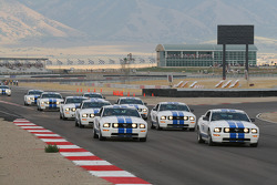 Mustang GTs in formation