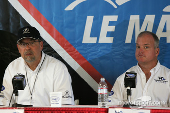 Acura press conference: Robert Clarke and Duncan Dayton