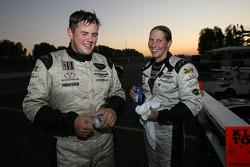 LMP2 winners Clint Field and Liz Halliday