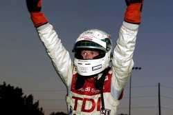 Allan McNish celebrates his victory
