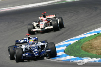 Mark Webber and Rubens Barrichello