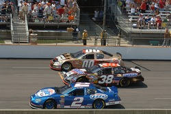 Kurt Busch, Elliott Sadler and Bill Elliott