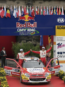 Podium: Second place Daniel Sordo and Marc Marti