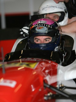 Mark Hines in the two-seater