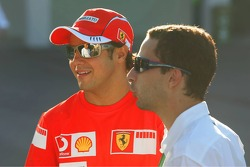 Felipe Massa with his manager Nicolas Todt