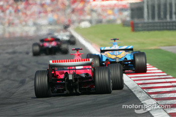 Michael Schumacher and Fernando Alonso