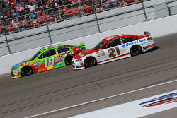 David Ragan, Joe Gibbs Racing Toyota and Ryan Blaney, Woods Brothers Racing Ford