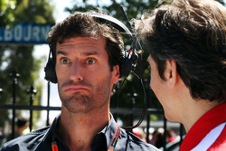 Mark Webber, Porsche Team WEC Driver with Massimo Rivola, Ferrari Sporting Director