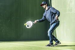 Daniel Ricciardo, Red Bull Racing plays racquet ball