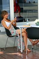 Jessica Button, wife of Jenson Button, McLaren