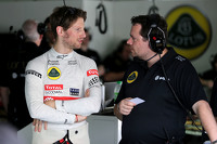 Romain Grosjean, Lotus F1 Team and Julien Simon-Chautemps, Lotus F1 Team Race Engineer