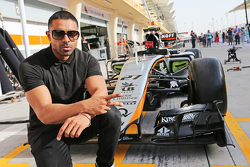Jay Sean, Singer-songwriter and Rapper, with the Sahara Force India F1 Team