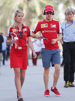 Sebastian Vettel and Britta Roeske, Ferrari Press Officer