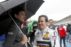 Toto Wolff, Sporting Director Mercedes-Benz and Robert Wickens