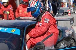 Driver Change: Steve Pruitt climbs into the #62 Ferrrari