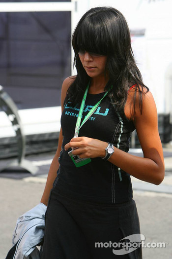 Fernando Alonso's girlfriend Raquel Rosario
