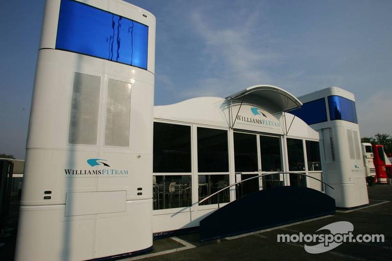 Williams F1 Team motorhome