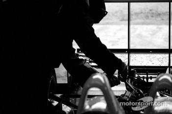 Intersport Racing team member at work