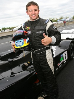 Race winner Adam Pecorari celebrates