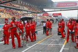 Scuderia Ferrari pit crew