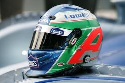 Fernandez Racing Lowe's Acura Lola LMP2 presentation: helmet of Adrian Fernandez