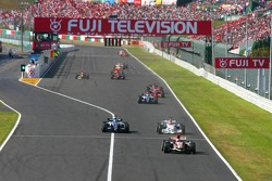 Rubens Barrichello, Nico Rosberg and Robert Kubica