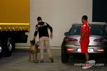 Michael Schumacher with his dog Shiva