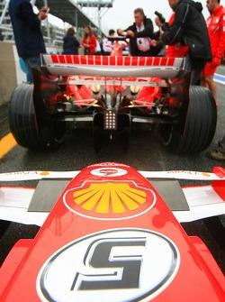 Detail of the Ferrari 248 F1