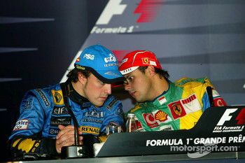 FIA press conference: 2006 F1 World Champion Fernando Alonso and race winner Felipe Massa