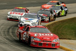 Dale Earnhardt Jr. leads Scott Riggs