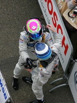 Bruno Spengler and Mika Hakkinen