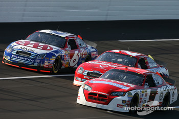 Kasey Kahne, Ken Schrader and Mark Martin