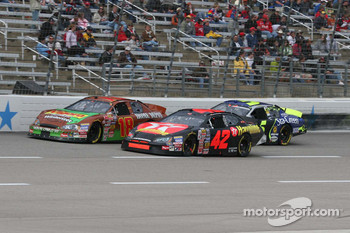 J.J. Yeley, Juan Pablo Montoya and Kyle Busch