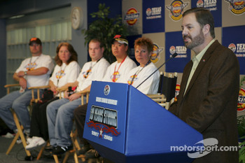 Race to Riches contest: Texas Motor Speedway President Eddie Gossage, speaks to the media