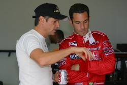 Oswaldo Negri and Helio Castroneves