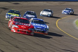 Dale Earnhardt Jr. and Brian Vickers battle