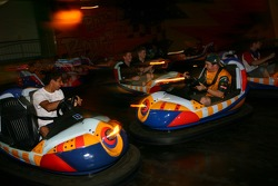 Cosmos World Theme Park, Kuala Lumpur: A1GP drivers in the bumper cars