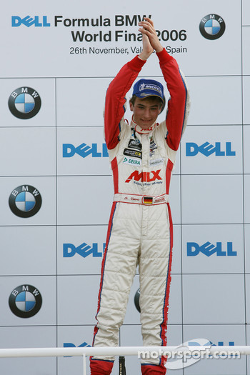 Podium: race winner Christian Vietoris celebrates