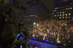 Christmas ambiance at Rockefeller Center