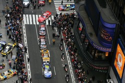 The top 10 drivers in the NASCAR NEXTEL Cup Series hit the streets of New York for Victory Lap