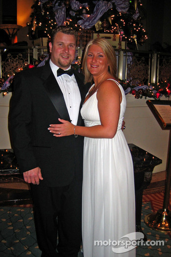NASCAR AutoZone Elite Division, Northwest Series champion Gary Lewis and his girlfriend, Jodi Hunt at the NASCAR NEXTEL Cup Series Awards Ceremony