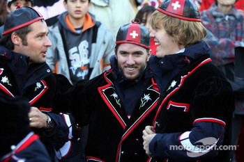 Andy Priaulx, Nick Heidfeld and Sebastian Vettel