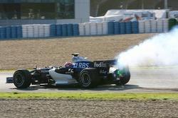 Engine failure for Kazuki Nakajima