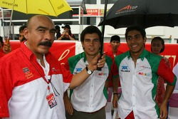 Sergio Perez and Salvador Duran