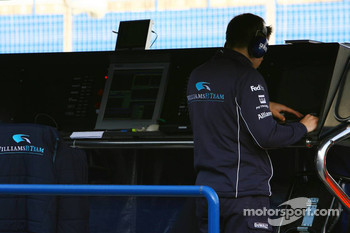 Williams F1 Team on the pitwall