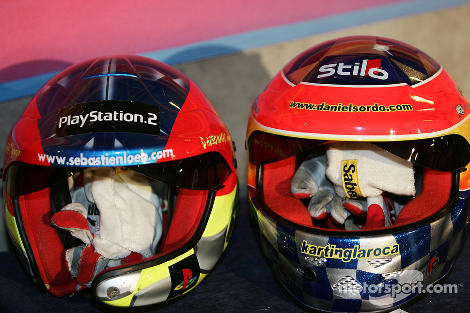 Helmets of Sébastien Loeb and Daniel Sordo