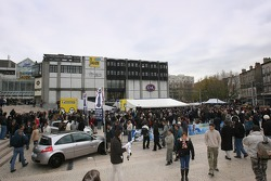 The Renault F1 paddock in Clermont-Ferrand